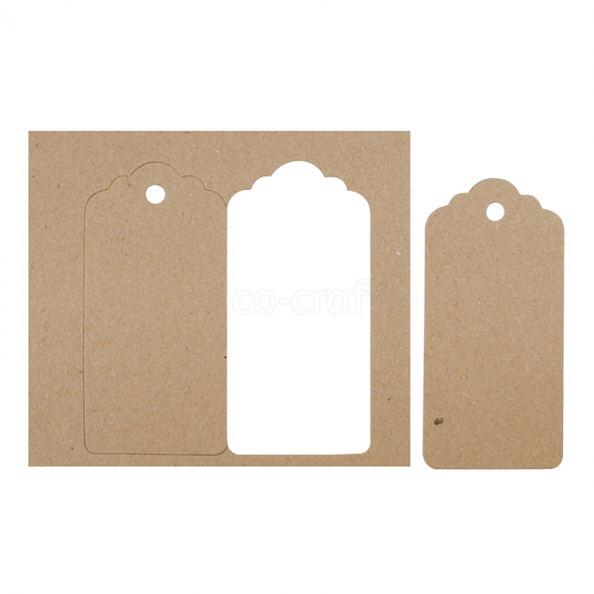 Gift Tags (Large) Natural 20 Pk-Hairy Manilla (Kraft Brown) - Gift Tag PNG