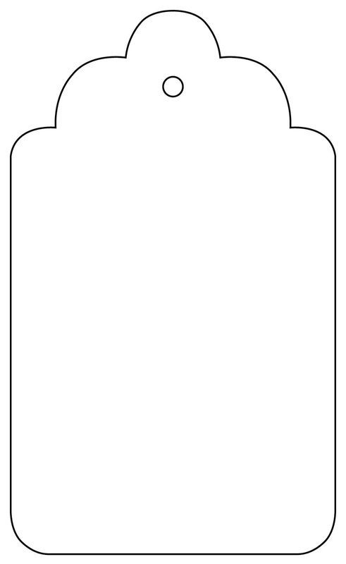 Tag with scalloped edgesPrint out the template, scale to your own  requirements and create your - Gift Tag PNG