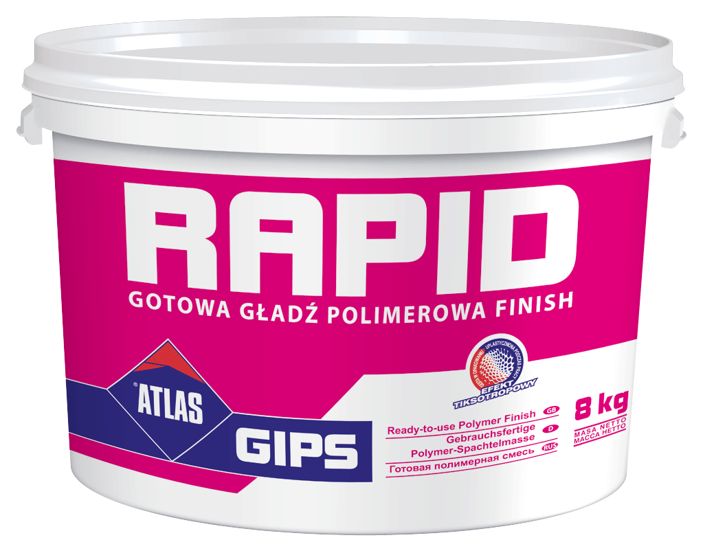Atlas Gips Rapid, fastbonding gypsum-polymer plaster (up to 3 mm) - Gipsarm PNG