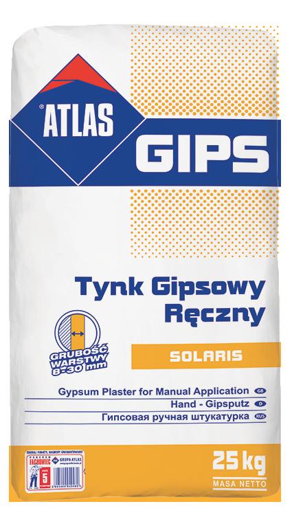 Atlas Gips Solaris, manual gypsum plaster (8-30 mm) - Gipsarm PNG