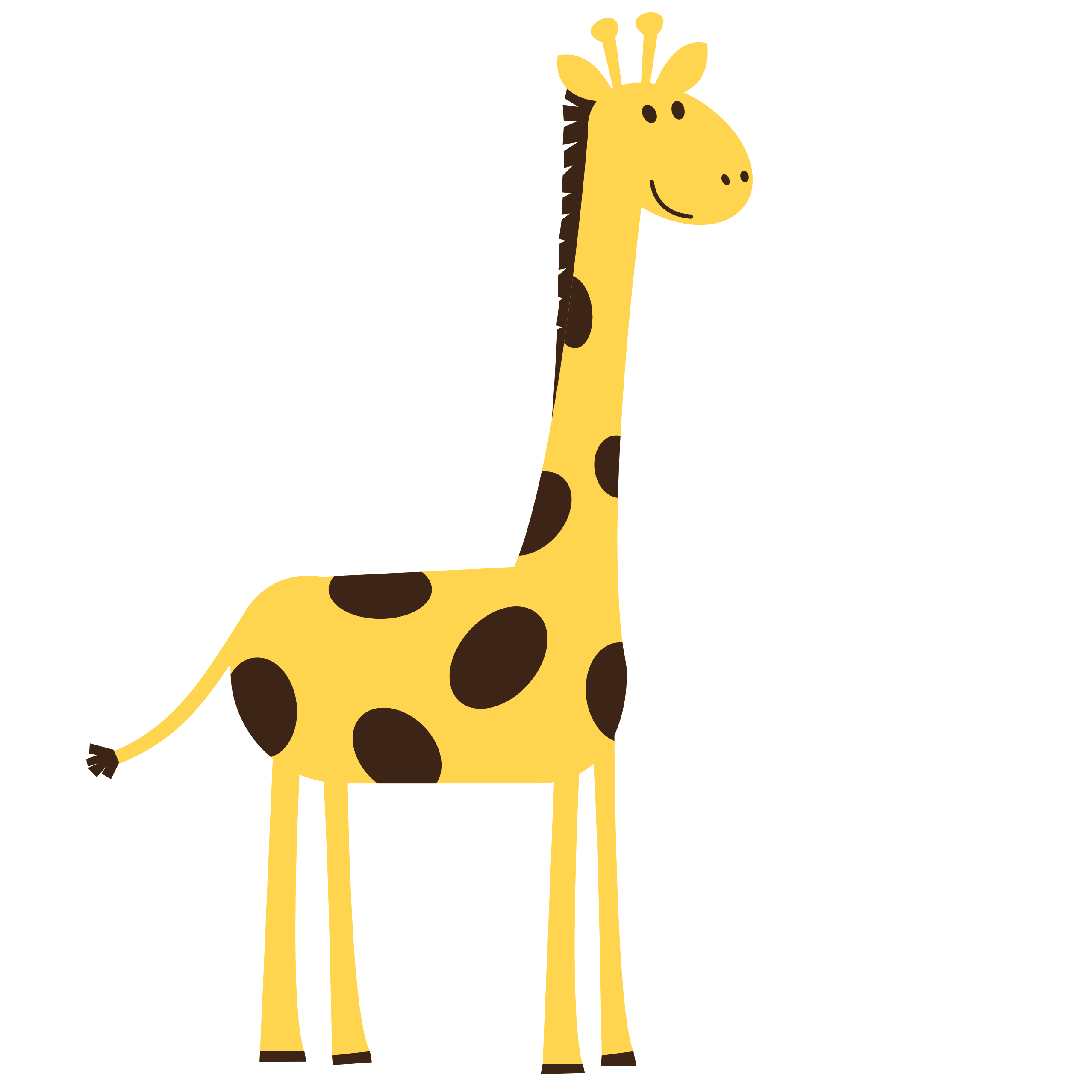 Giraffe Clipart Black And Whi