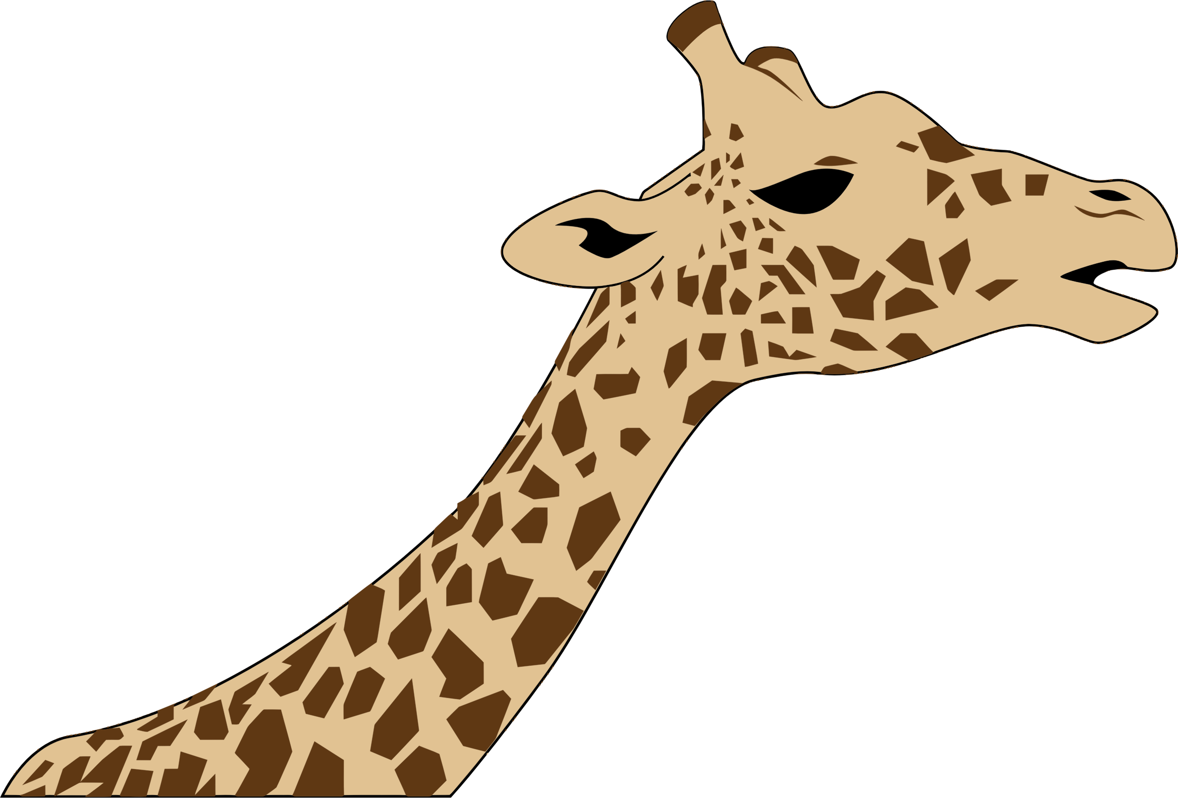Giraffe Head PNG HD - 129414