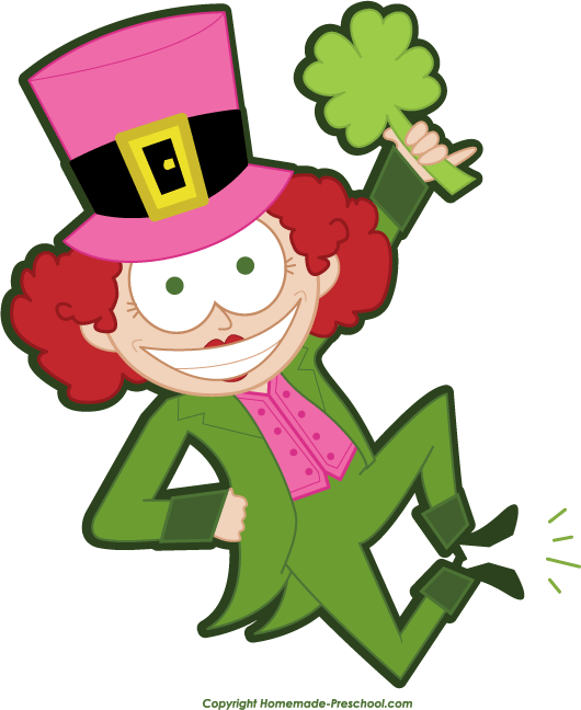 Click to Save Image - Girl Leprechaun PNG