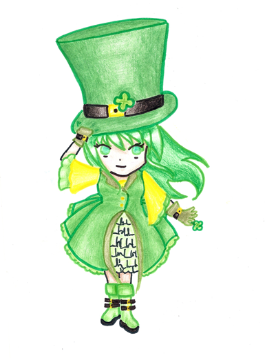 Leprechaun Girl by diemechon7 PlusPng.com  - Girl Leprechaun PNG