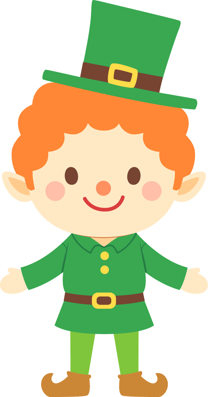 March cute leprechaun clipart image 2 - Girl Leprechaun PNG