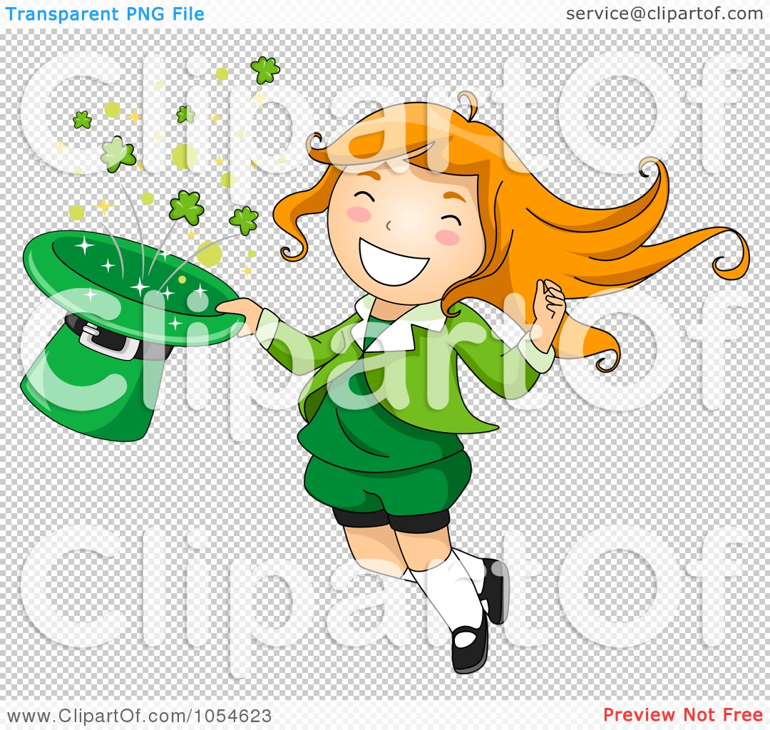 PNG file has a transparent background. - Girl Leprechaun PNG