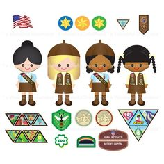 Girl Scouts I PDF PNG Clip Art Digital File. Elf ClipartGirl ClipartBrownie  PlusPng.com  - Girl Scout Brownie Elf PNG