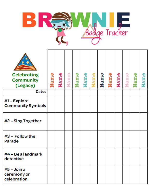 I am Girl Scouts: Brownie Badge Tracker! - Girl Scout Brownie Elf PNG