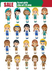 Scout girl, daisy scout clip art-set 20 png - Girl Scout Brownie Elf PNG