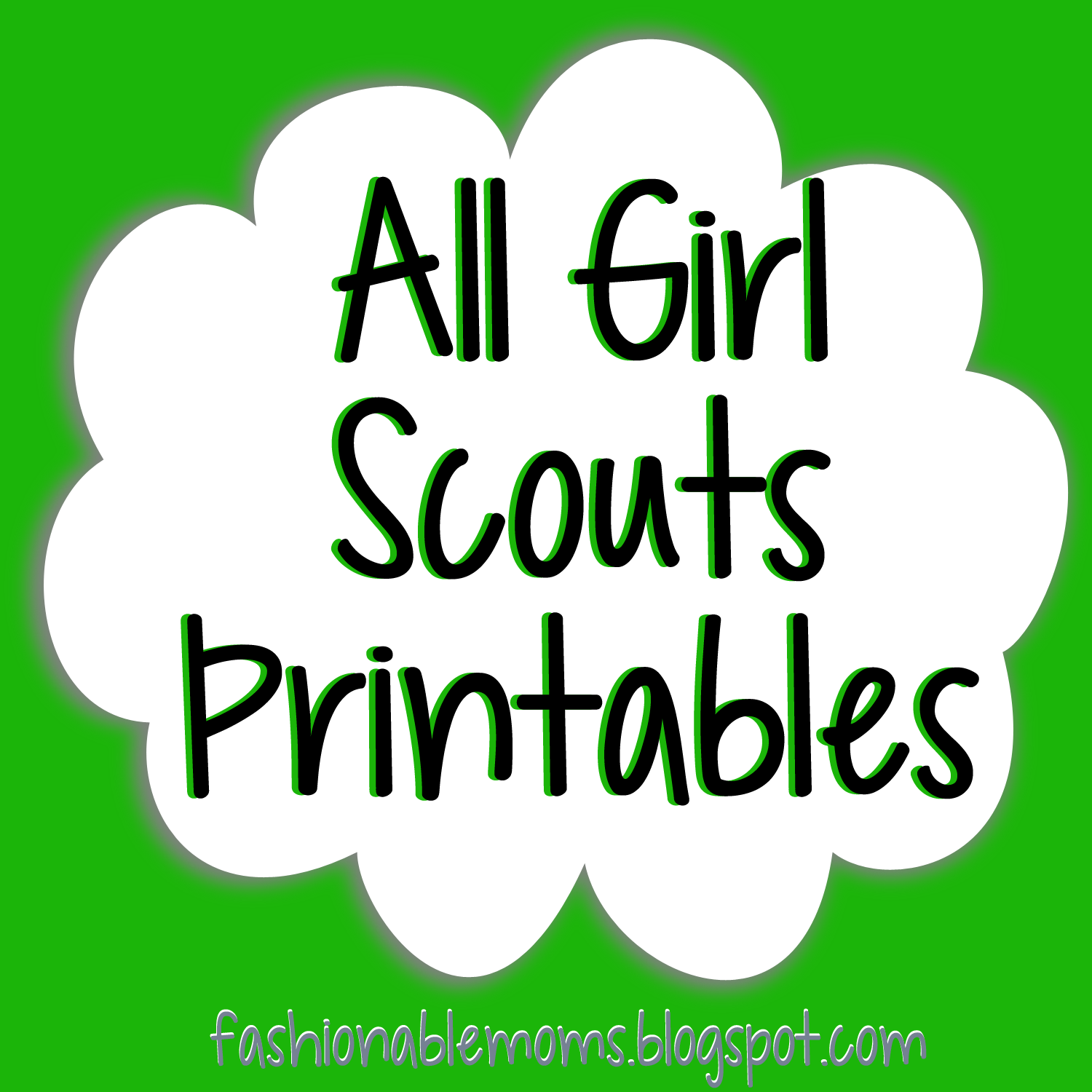 Girl Scouts Printables - cute -by level- cookie booth thank you cards,  posters - Girl Scout Daisy PNG HD