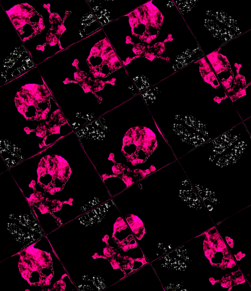 pink skull wallpaper 02 by barbaraaldrette PlusPng.com  - Girl Skull PNG HD