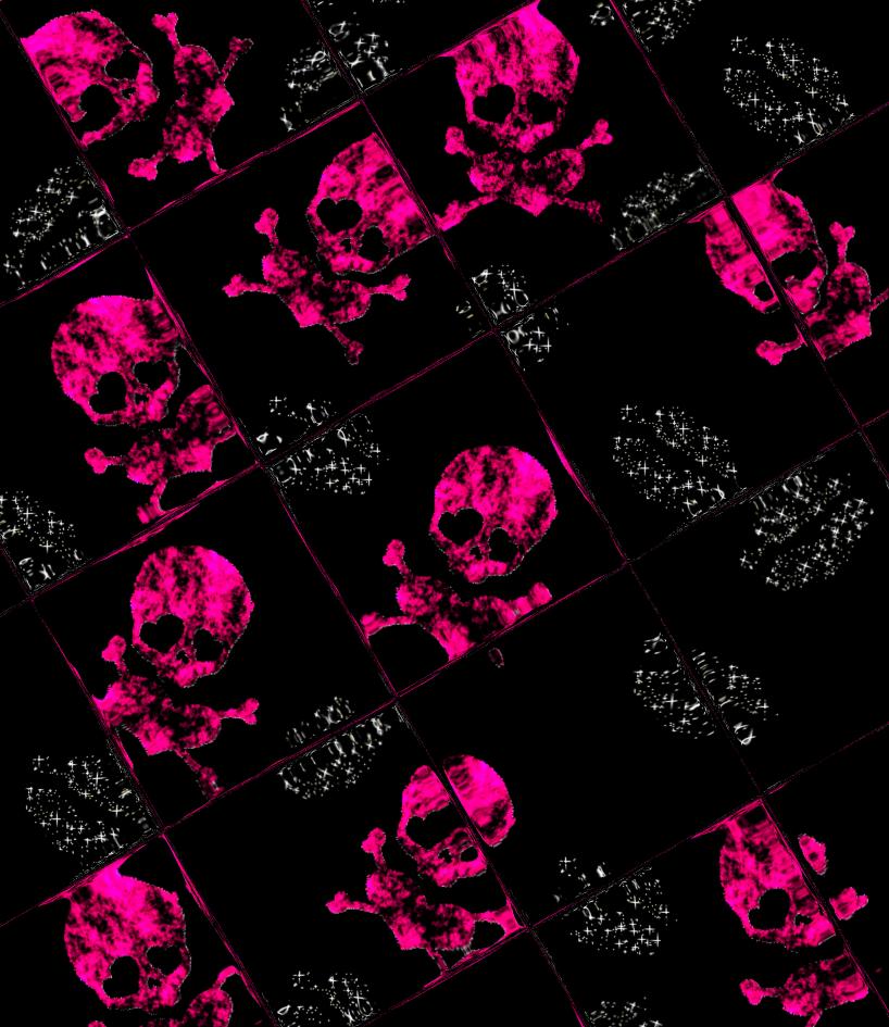 pink skull wallpaper 02 by ba