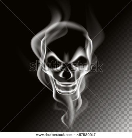 Smoke in skull shape, vector art and illustration. - Girl Skull PNG HD