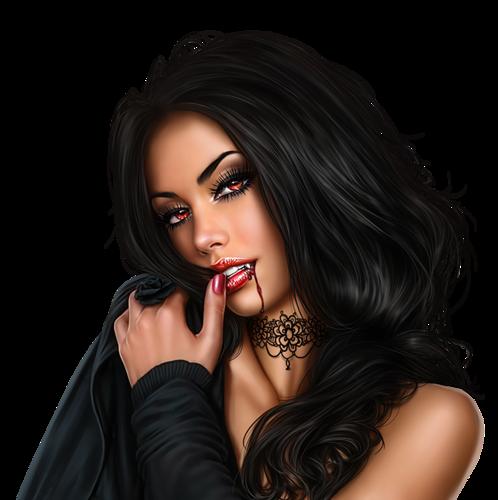Girl Vampire PNG - 56743