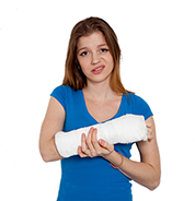 Girl With Broken Arm PNG