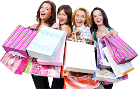 Girl With Shopping Bags PNG - 161919