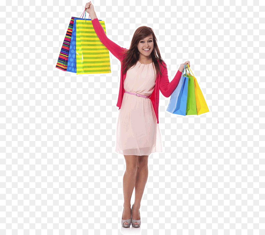 Girl With Shopping Bags PNG - 161910