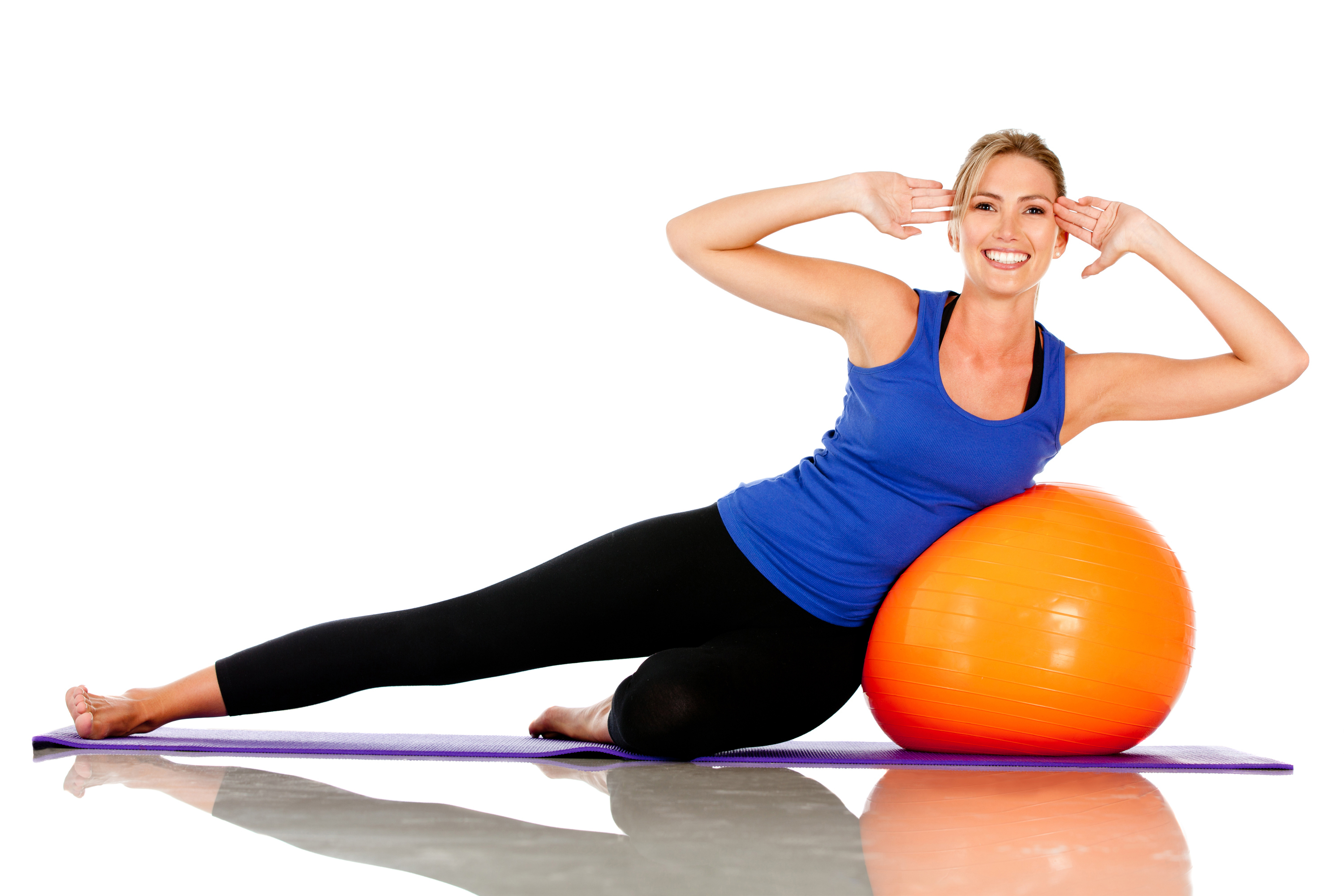 Pilates - Girl With Ten Plates PNG