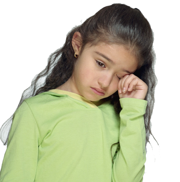 Sad Little Girl PNG Image - Girl With Ten Plates PNG