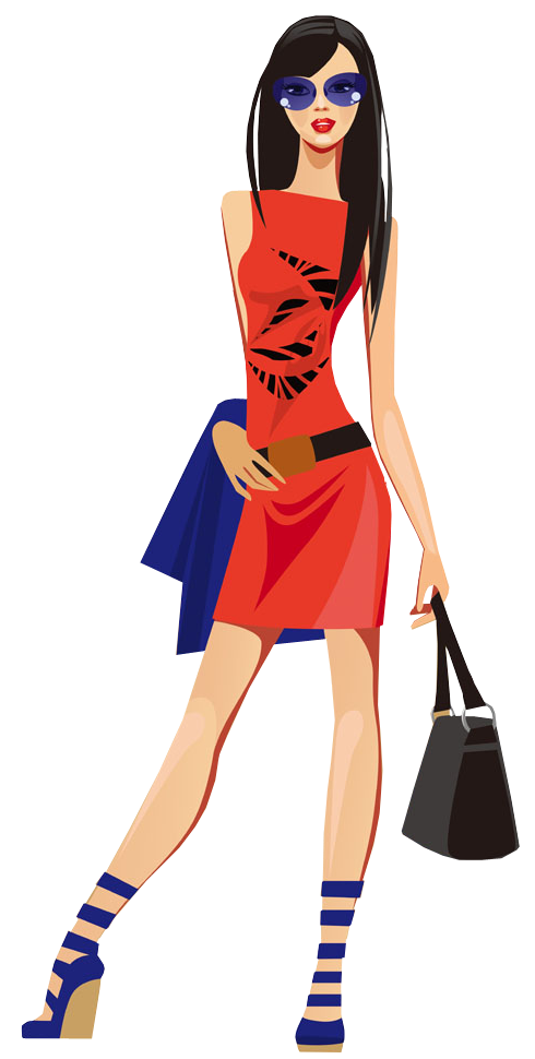 Fashion Girl PNG File - Girls Shopping PNG HD