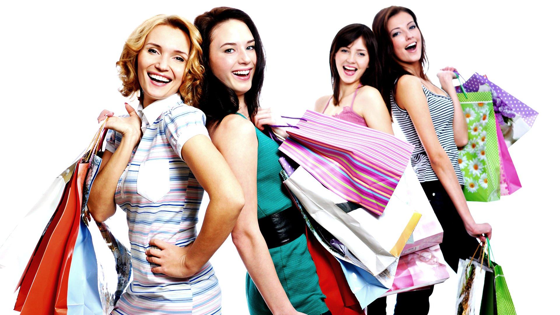 Girls Shopping PNG HD