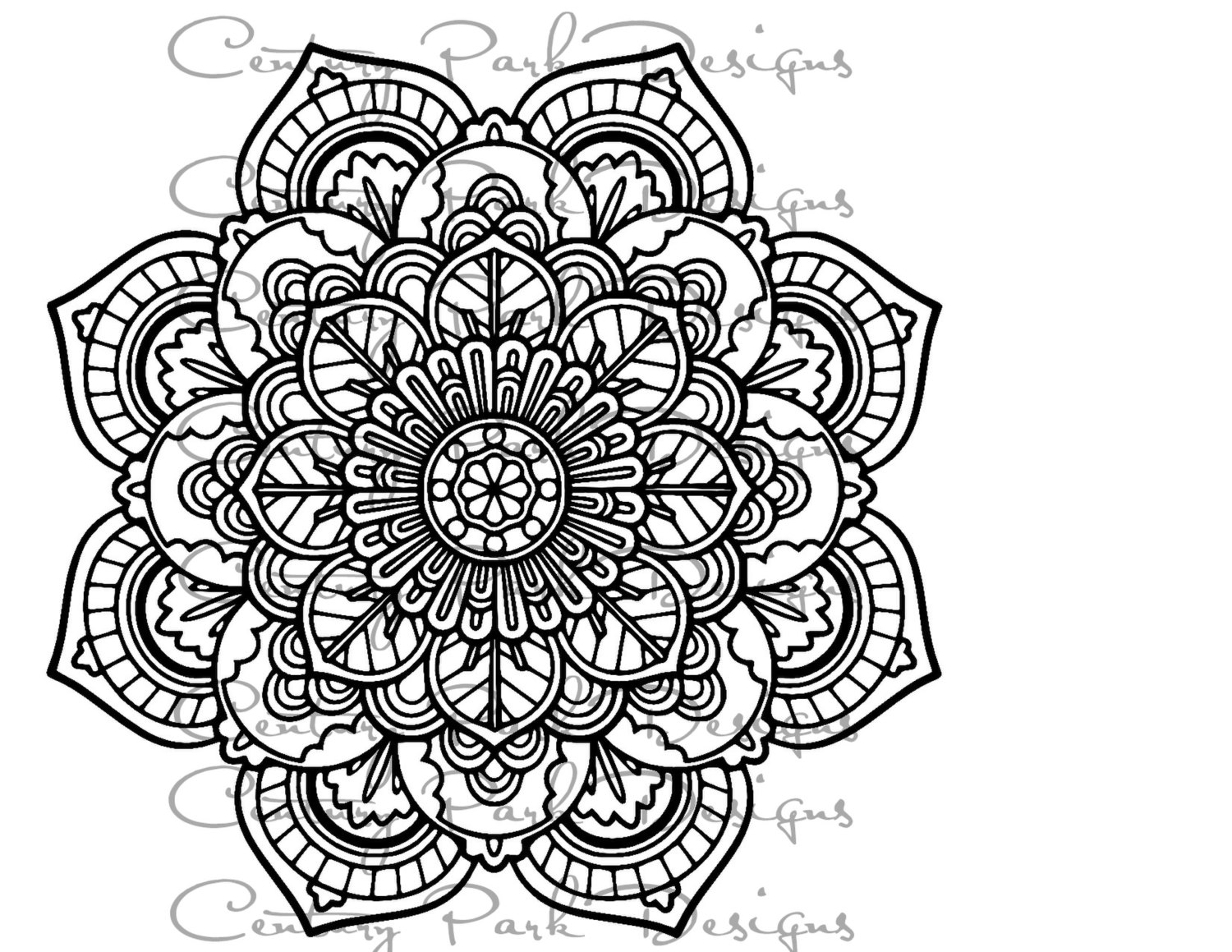 Girly Mandala PNG - 164632