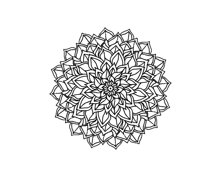 Girly Mandala PNG - 164623