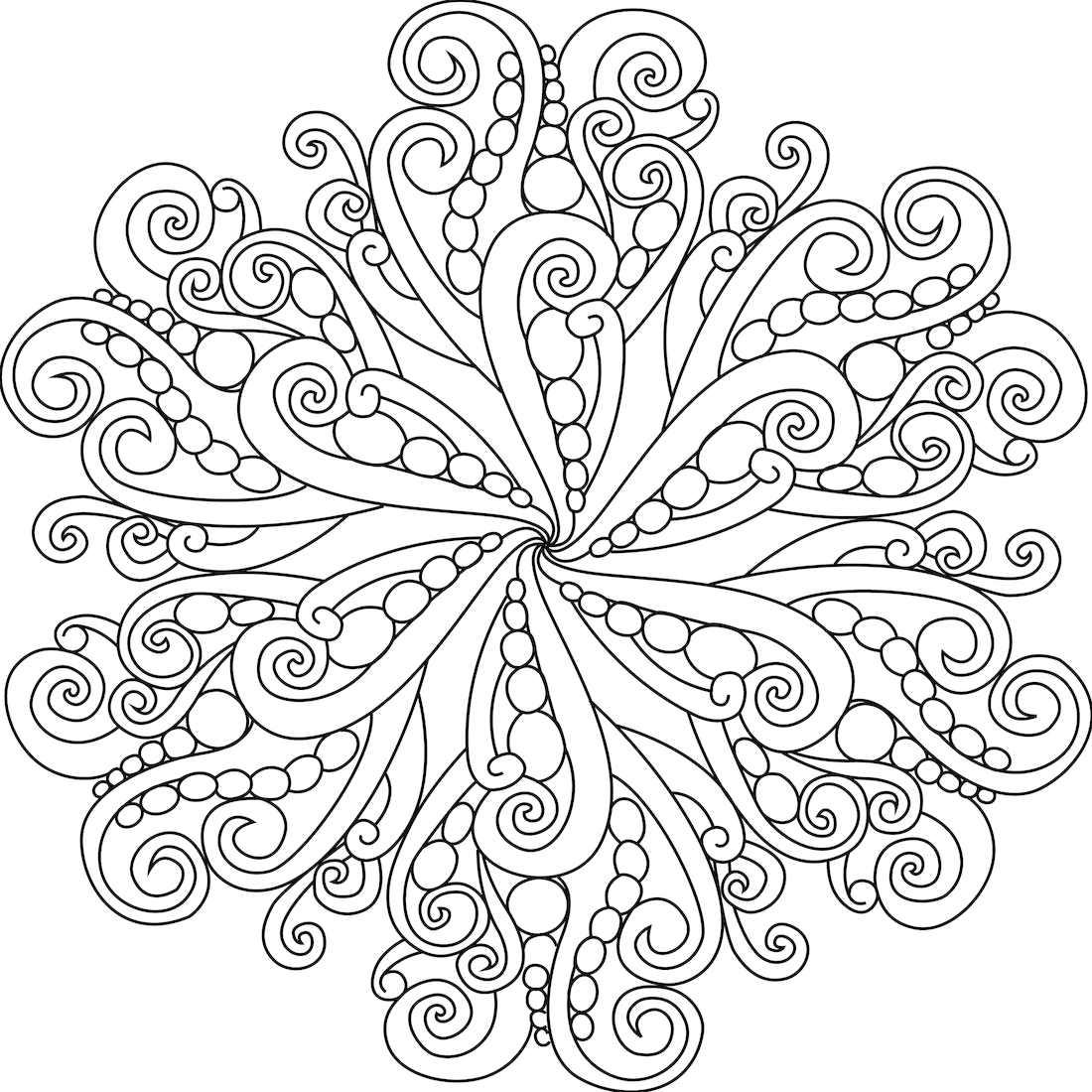 Girly Mandala PNG - 164624