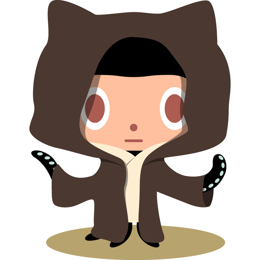 And Github Master could be this: - Github Octocat Logo PNG