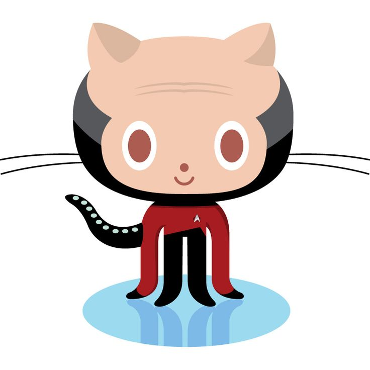 A parody on the GitHub logo, Octocat: Jean-Luc Picat - Github Octocat Logo Vector PNG