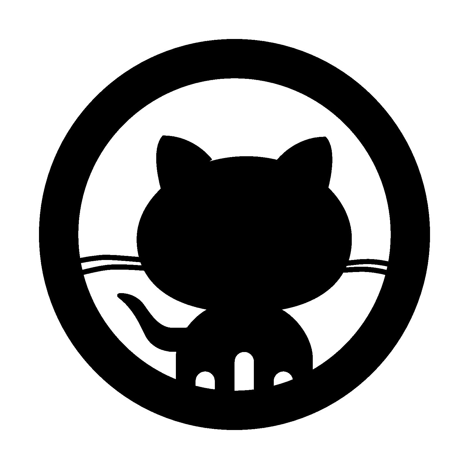 Github Octocat Logo Vector PNG - 37992