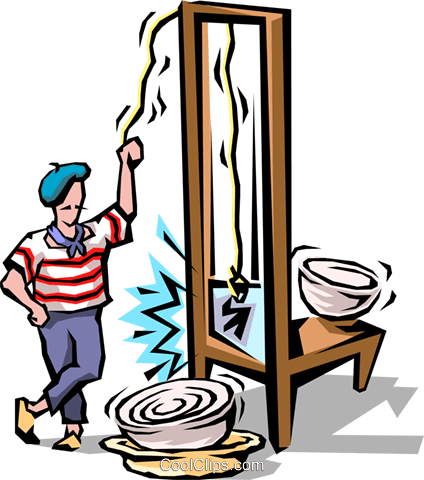 Chef with guillotine Royalty Free - Giutine PNG