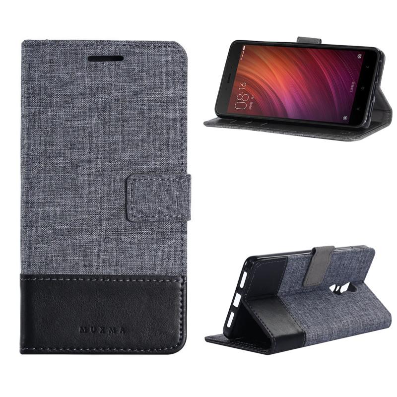 Muxma Pu Deri   Tuval Düşen Geçirmez Kılıf w/Kart Yuvası Cüzdan Xiaomi  Redmi için - Giutine PNG