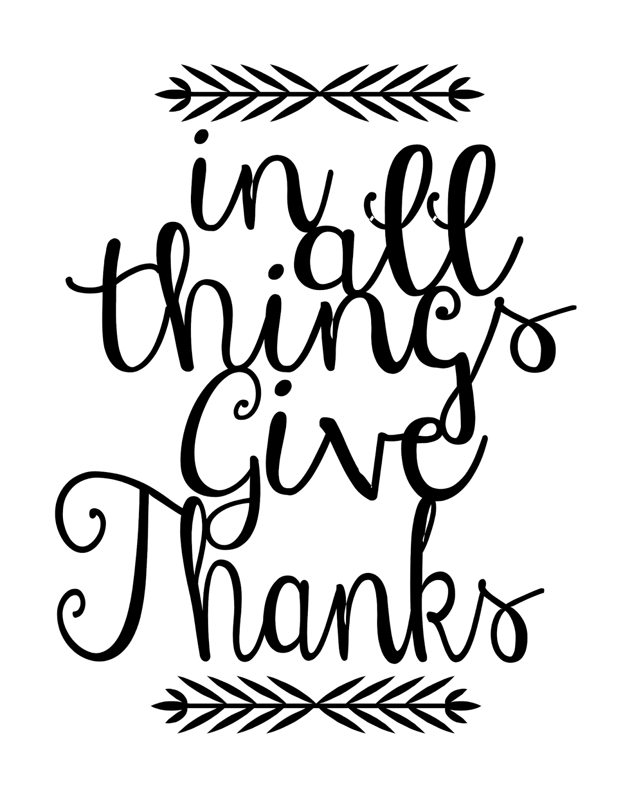 Give Thanks PNG Black And White PlusPNG 1237