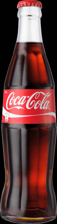 Classic Coke Bottle Coca Cola - Glass Soda Bottle PNG