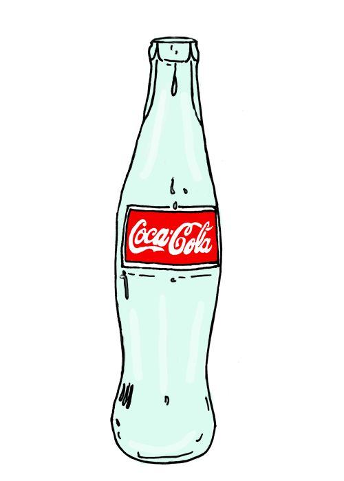 Glass Soda Bottle PNG - 163163