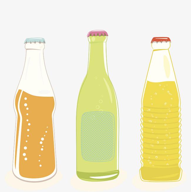 three bottles of bottled soda, Three, Glass Bottles, Bottled Soda PNG Image  and - Glass Soda Bottle PNG