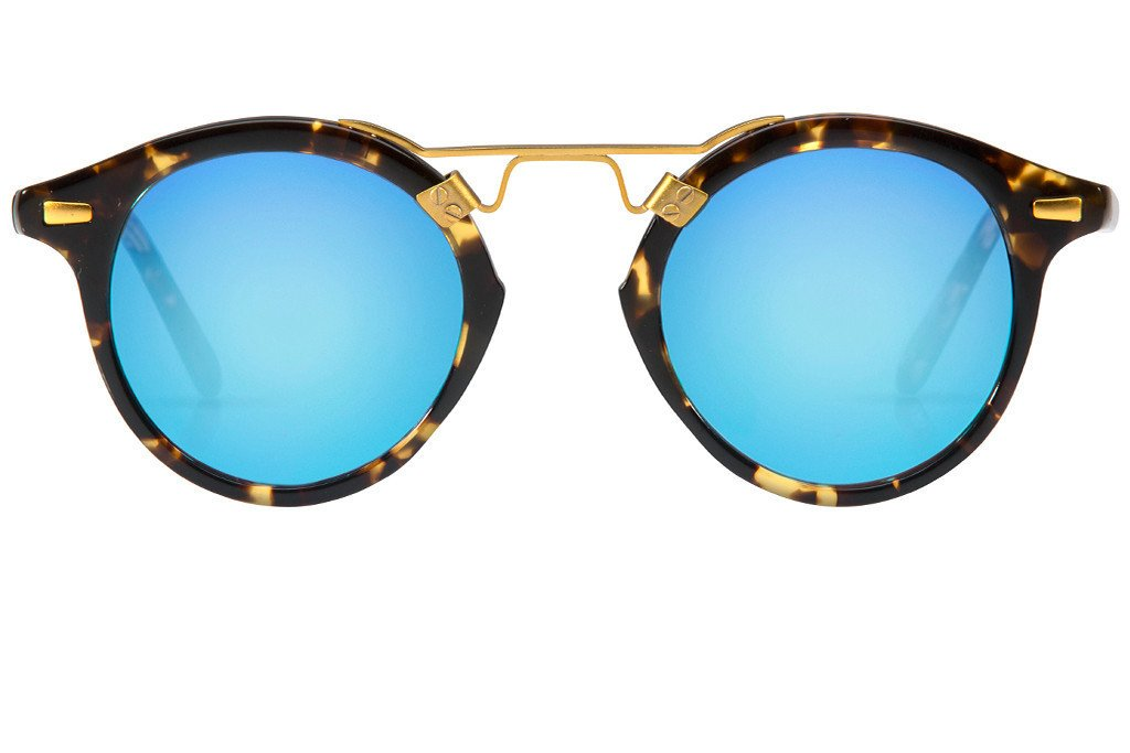 St. Louis Bengal Blue boasts a 24K bridge, rounded blue mirrored lenses and  a PlusPng.com  - Glasses HD PNG