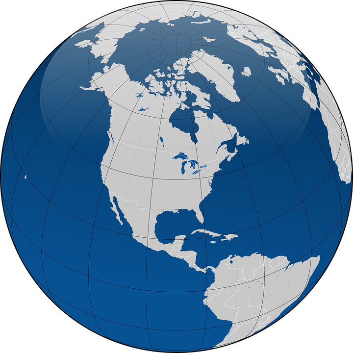 Globe, Earth, Planet, Continents, Coordinates - Globe HD PNG
