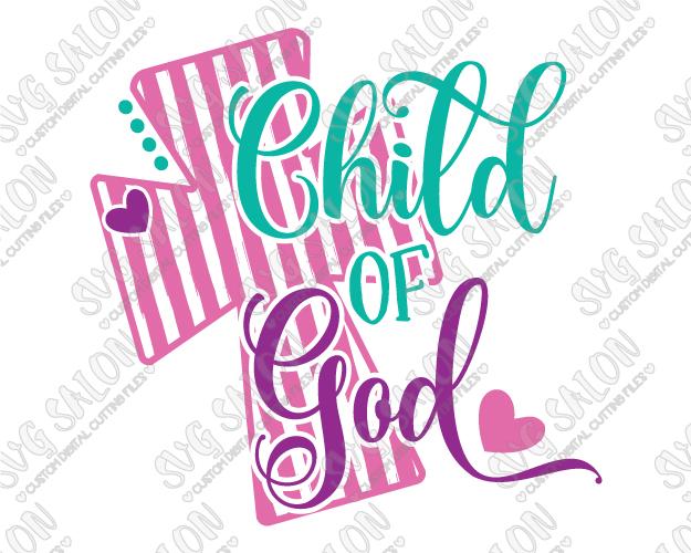 Child of God SVG Cut File Set - God And Children PNG