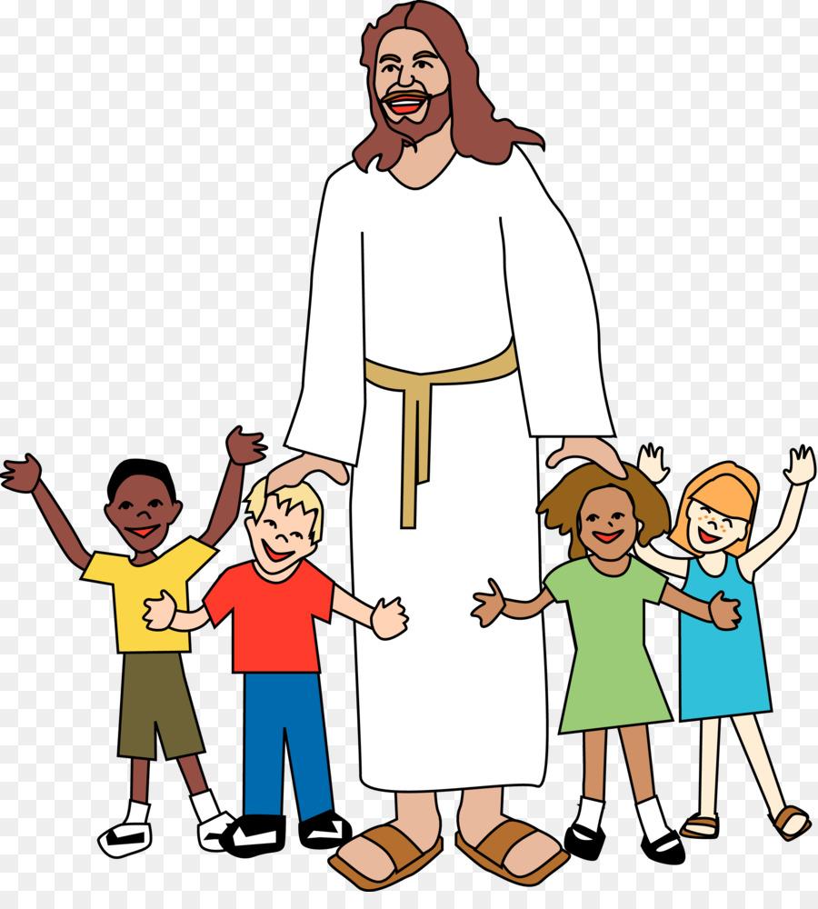 Child Worship God Clip art - God - God And Children PNG
