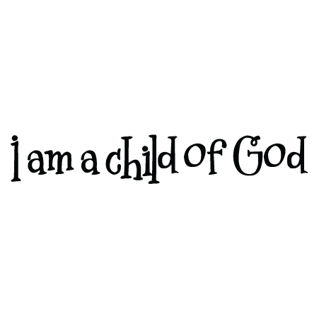 i am a child of god wall decal - God And Children PNG