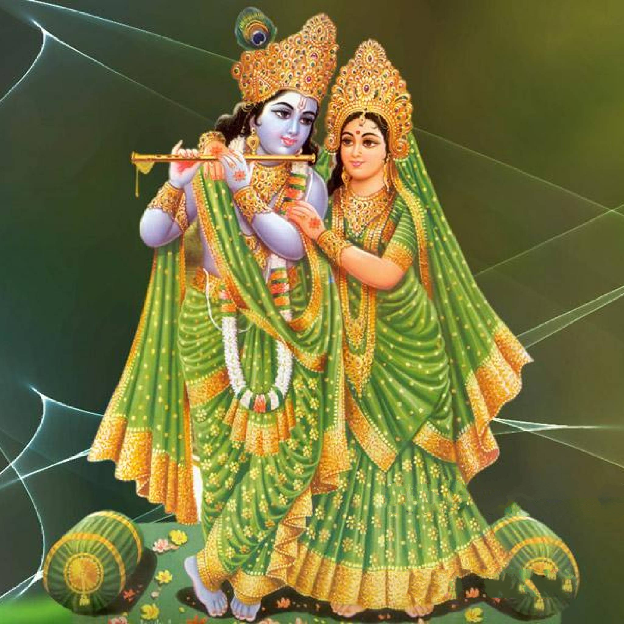 Download God Couple Radha Krishna 2048 x 2048 Wallpapers - 4565799 - Hindu  God Goddess Hinduism | mobile9 - God HD PNG