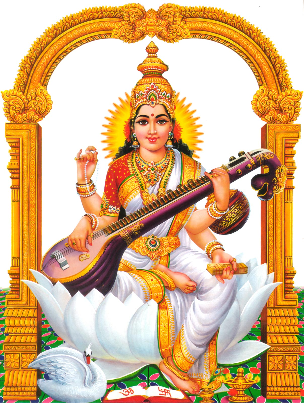 Lakshmi PNG Transparent Images WordZZ - Saraswati PNG - God HD PNG