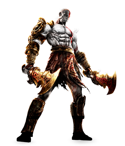 Kratosgow3remastered.png - God Of War PNG