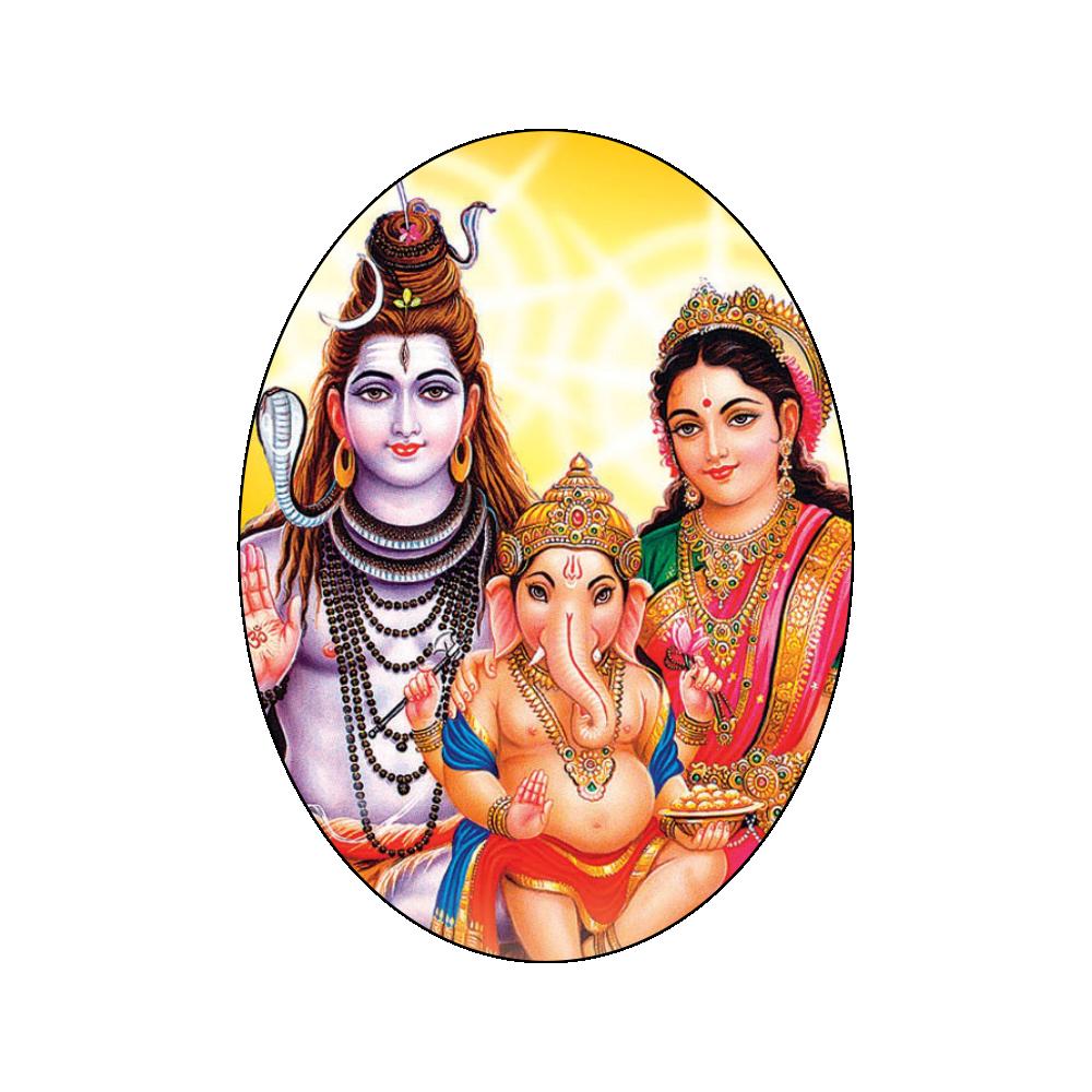 . PlusPng.com Shiv Parvati Ganesh PlusPng.com  - God Siva Parvathi PNG
