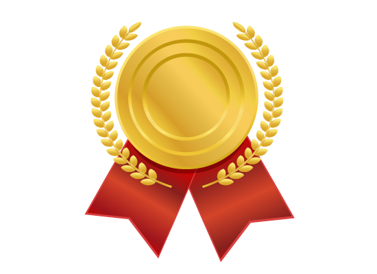 Classical Gold Medal Png 1305 - Gold Award PNG