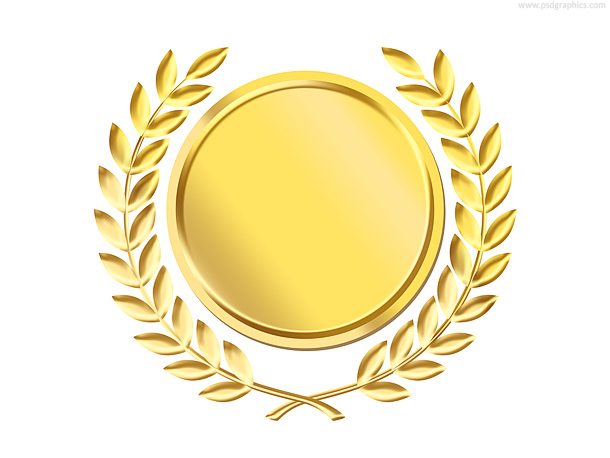 Gold laurel wreath - Gold Award PNG
