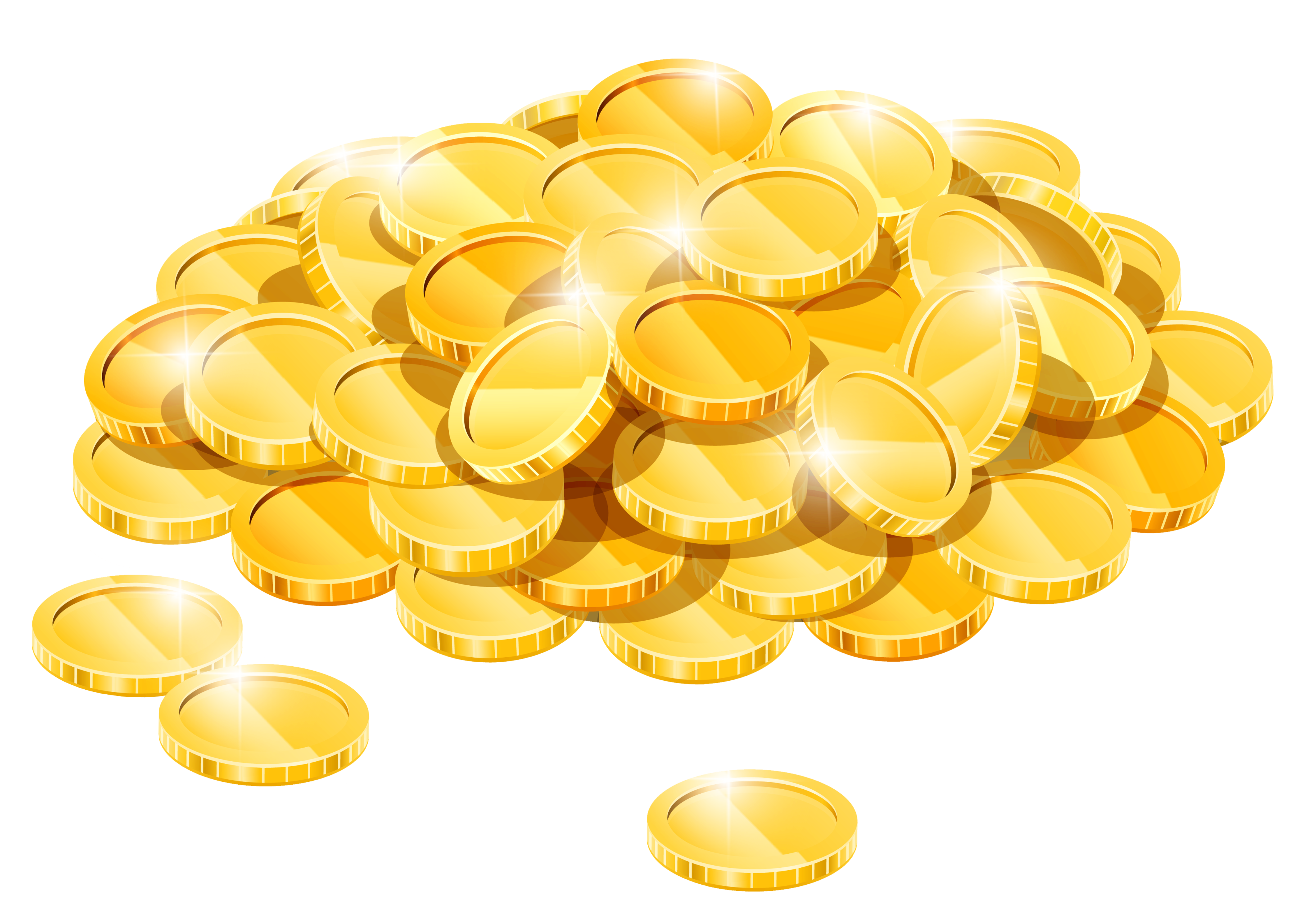 Gold Coins PNG HD - 128563