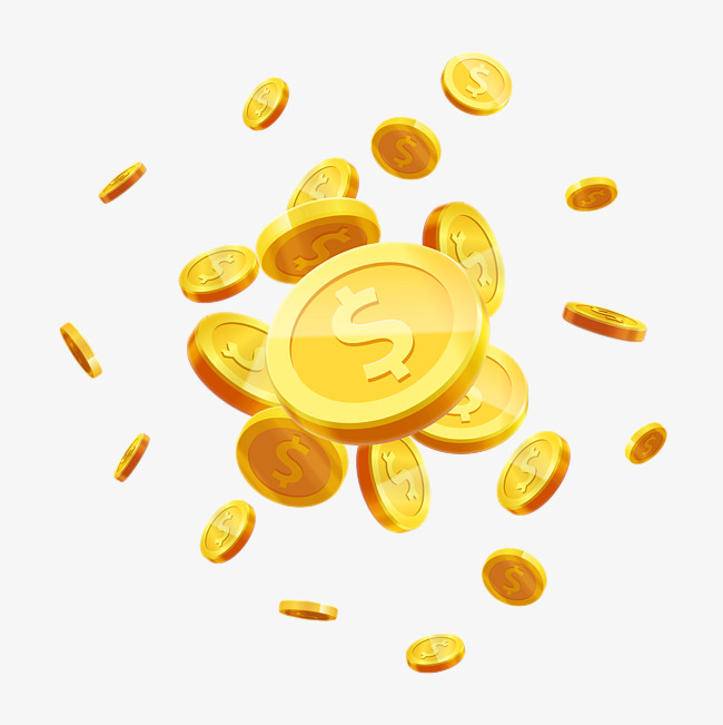 Gold Coins PNG HD - 128566